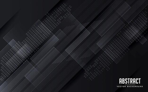 Abstract background geometric black and grey color modern