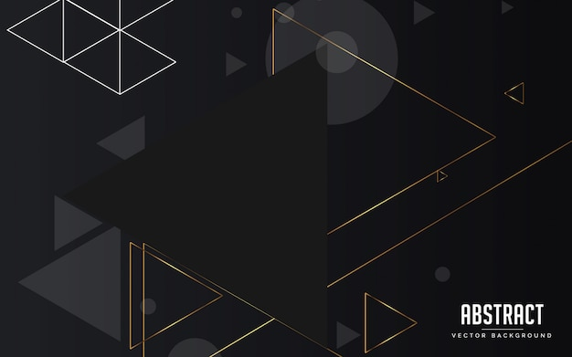 Abstract background geometric black and grey and gold color modern