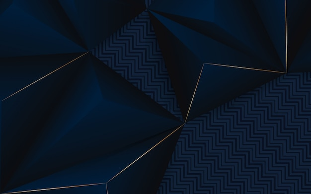 Abstract background geometric blue and black color