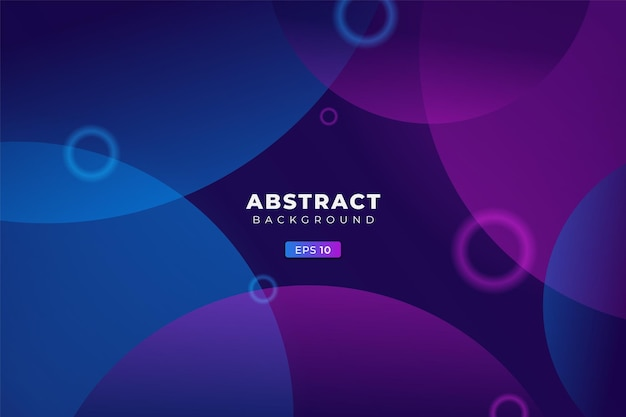 Abstract background geometric colorful circle gradient blue and purple premium banner vector