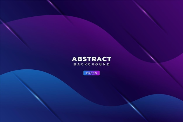 Abstract background geometric colorful glow gradient blue and purple premium banner vector