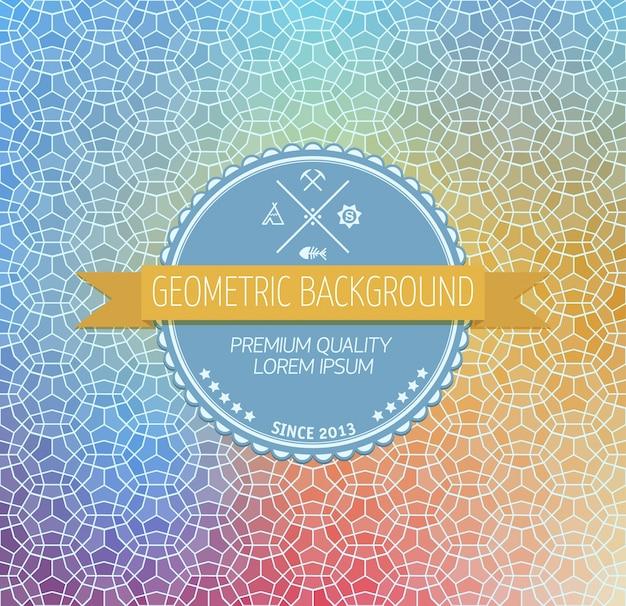 Sfondo astratto, disegno geometrico, illustrazione vettoriale. tesselazione geometrica di superficie colorata. vetrata in vetro. sfocatura di colore astratto.