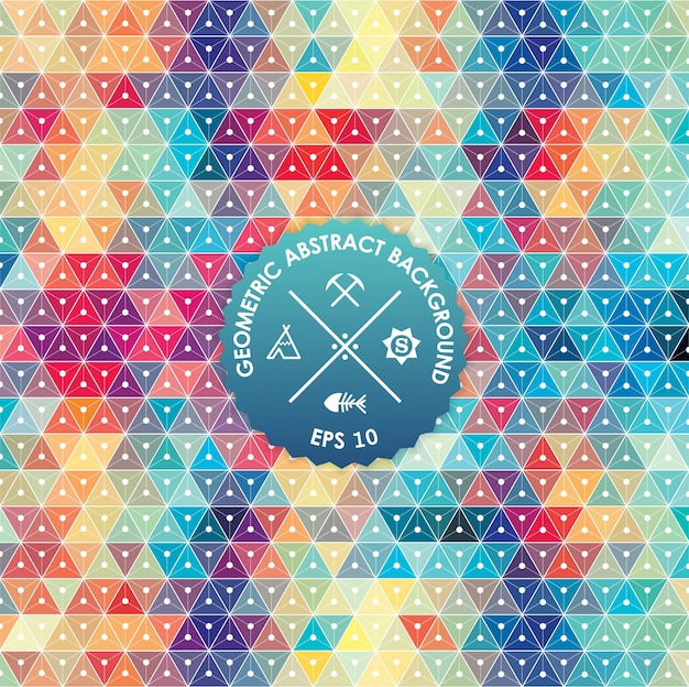 Абстрактный фон, геометрический дизайн, векторные иллюстрации. геометрическая тесселяция цветной поверхности. стиль витражного стекла. абстрактное размытие цвета.