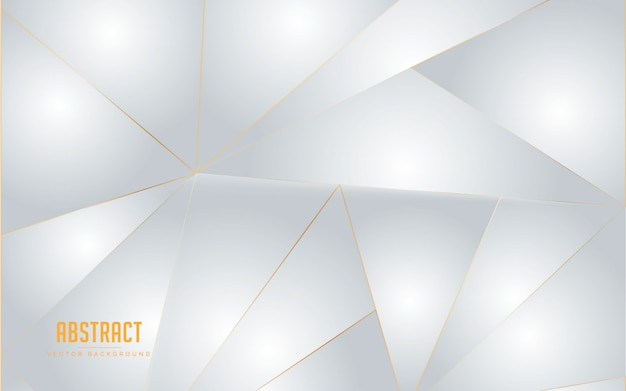 Abstract background geometric white and grey color with golden line