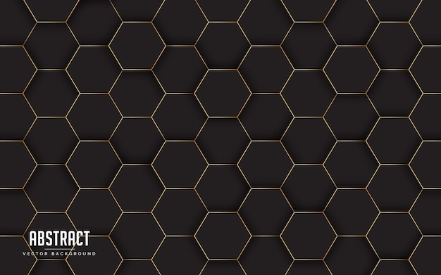 Abstract background geometric with black and golden line color
