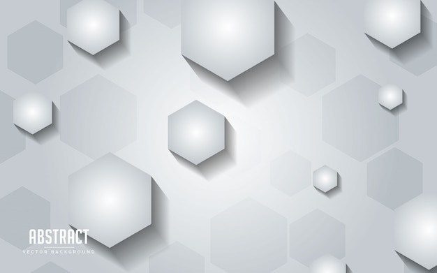 Abstract background geometric with grey and white color