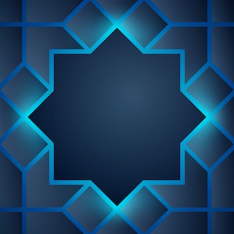 Abstract background glow arabic geometric