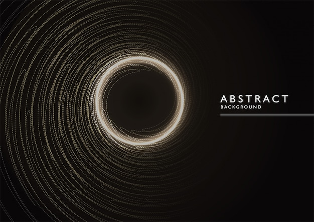 Abstract background gold and black color Premium Vector