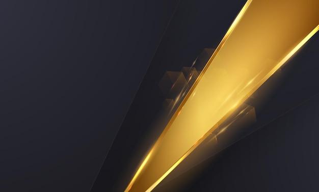 Абстрактный фон золото черный плакат красоты с vip роскошью динамичной.