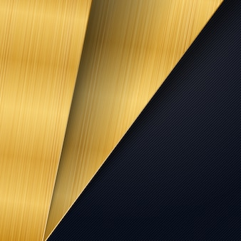 Abstract background gold brushed metal texture