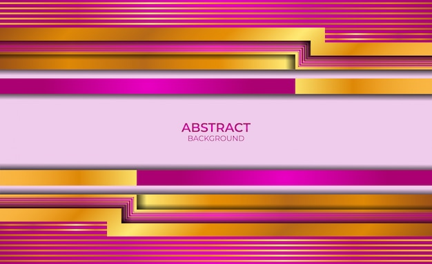 Abstract background gold and purple style