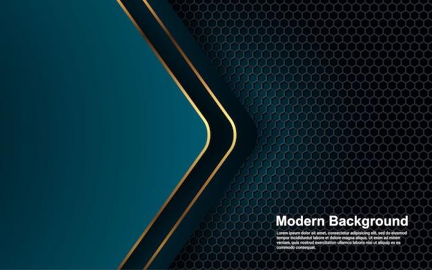 Абстрактный фон золотой эффект на синий цвет современного