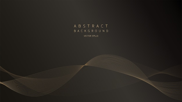 Abstract background. golden line wave. luxury style.