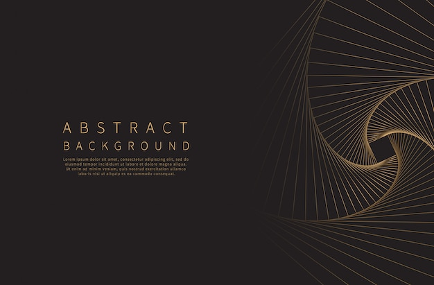 Abstract background. golden line wave.