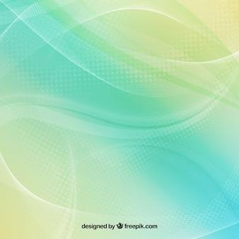 Sfondo astratto in toni verdi e blu