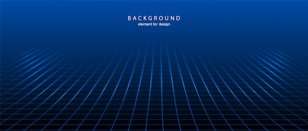 Abstract background grid with depth of field effect.