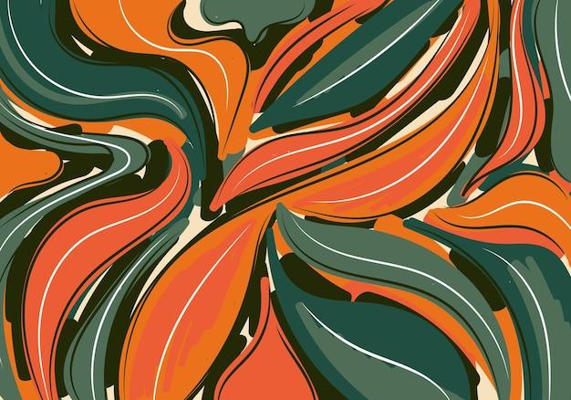 デザインのための抽象的な背景手描きパターンブラシコラージュ現代的なテンプレート。ベクトルイラスト