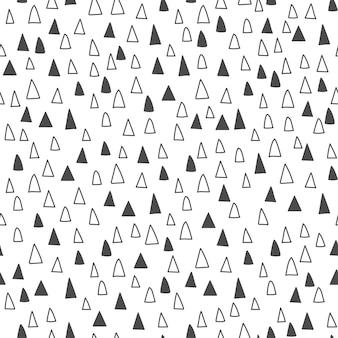 抽象的な背景。手描きの三角形。シームレスパターン