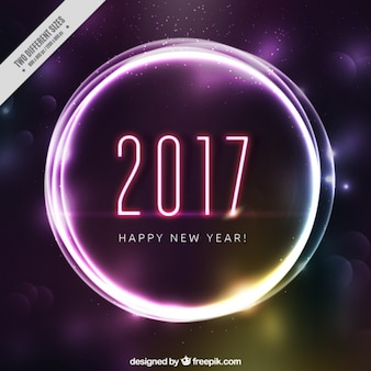Abstract background of happy new year with light ring