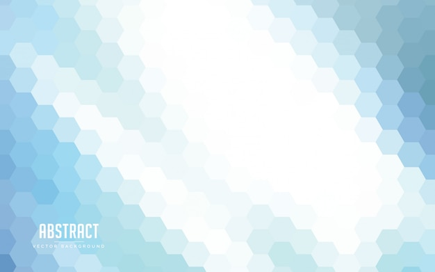 Abstract background hexagon gradients colorful
