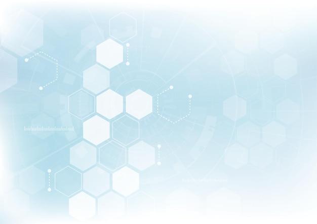 Абстрактный фон шестиугольники дизайн. наука футуристическая энергия технологии