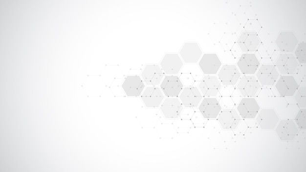 Abstract background of hexagons shape pattern. concepts and ideas for healthcare technology, innovation medicine, health, science, and research.