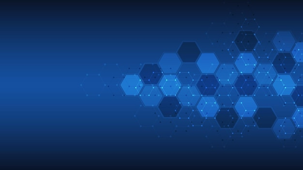 Abstract background of hexagons shape pattern