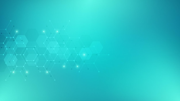 Abstract background of hexagons shape