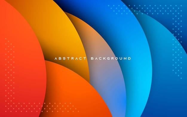 Абстрактный фон в стиле битник. форма круга перекрывает слои.