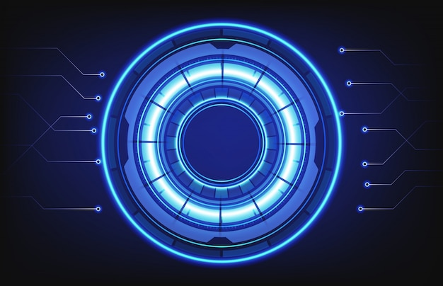 Abstract background of hud technology intelligent interface connection hole