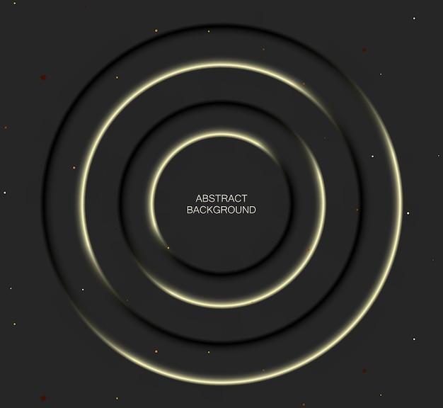 Абстрактная второстепенная иллюстрация в стиле черного неоморфизма. минимальные обои, фон.