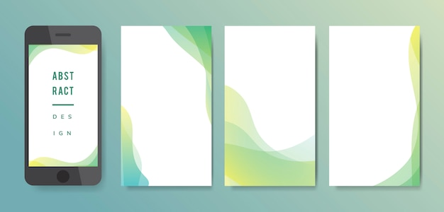 Abstract background illustration set