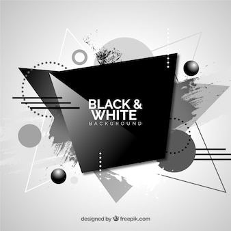 Abstract background in black and white color