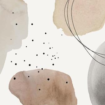 Абстрактный фон в коричневой акварели