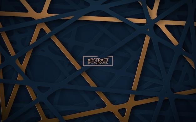 紙の抽象的な背景は、スタイルをカットしました。カットアウトストリップが絡まった3dリアルな背景。図