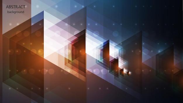 ボリュームの透明な形の形で抽象的な背景。