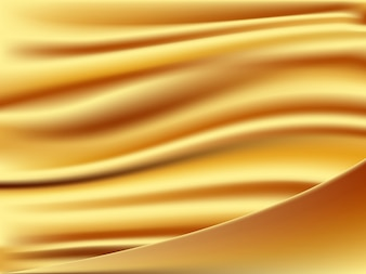 Abstract background is golden fabric