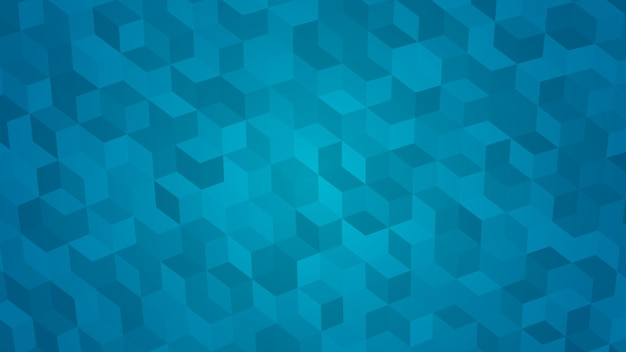 Abstract background of isometric cubes in light blue colors.