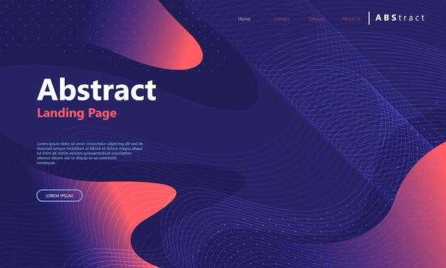 Abstract background landing page template