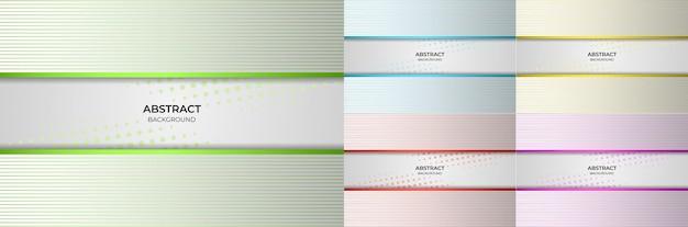 Абстрактный фон градиент линии зеленый, синий, желтый, красный и фиолетовый стиль. векторная иллюстрация