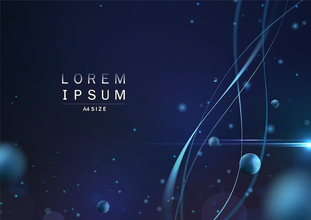 Abstract background in line and particle bokeh concept