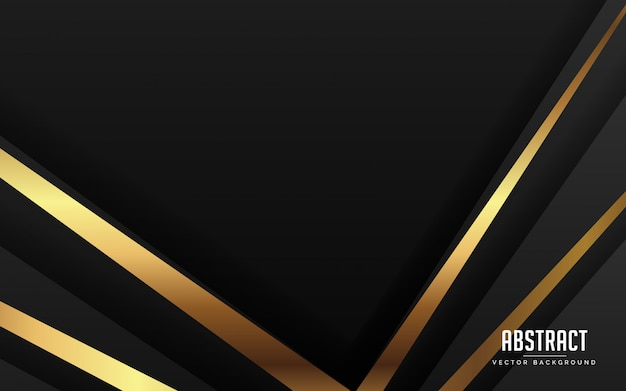 Abstract background luxury black color and gold color modern