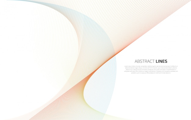Abstract background of luxury color lines