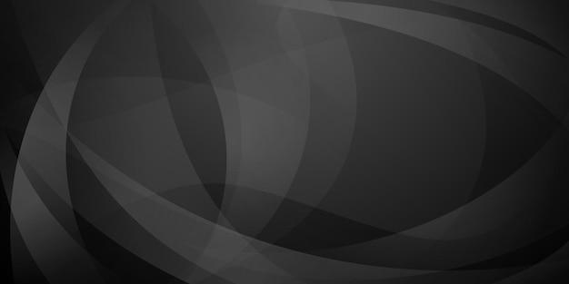 검은색과 회색 색상의 곡선으로 만들어진 추상 배경
