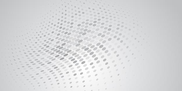 Абстрактный фон из полутоновых точек в белых и серых тонах