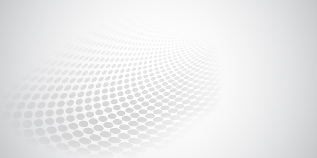白とグレーの色のハーフトーンドットで作られた抽象的な背景