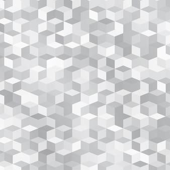 小さな灰色の立方体で作られた抽象的な背景