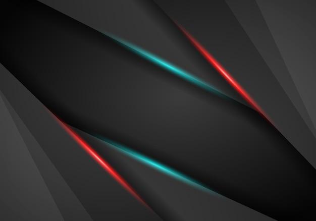 抽象的な背景、金属赤と青のライトフレーム