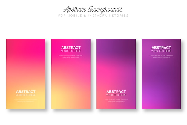 Abstract background for mobile & instagram stories