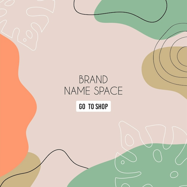 Abstract background. modern design template in minimal style. stylish cover for beauty presentation, branding design. vector illustration